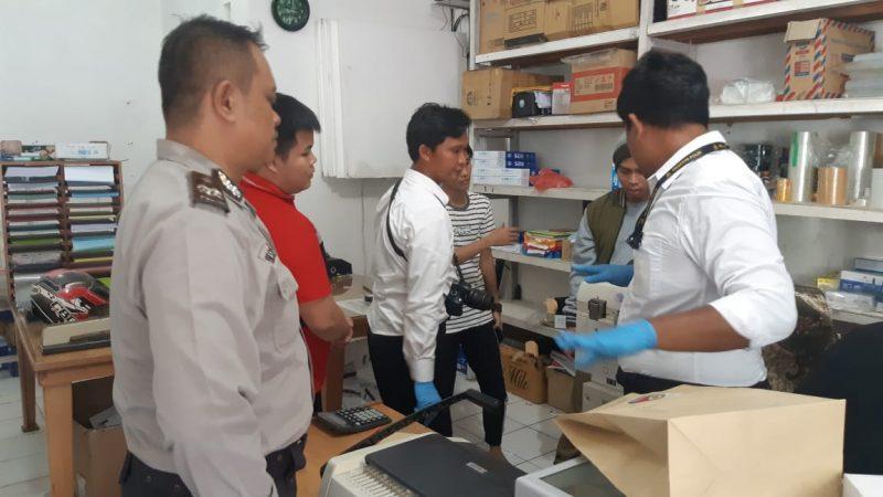 Tim Inafis dan anggota Polsek Pahandut saat melakukan olah TKP di lokasi kejadian Senin (16/12/2019).