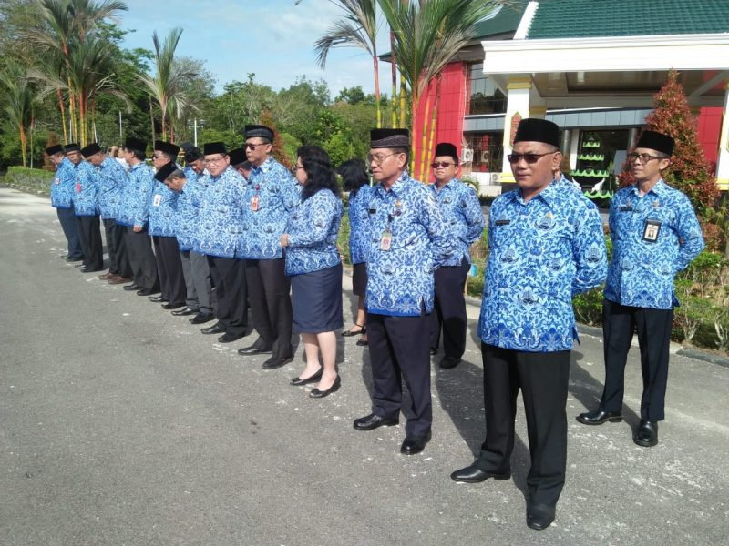 Asisten,Staf Ahli dan Kepala OPD ikuti Apel Gabungan ASN lingkup Pemkab Katingan.