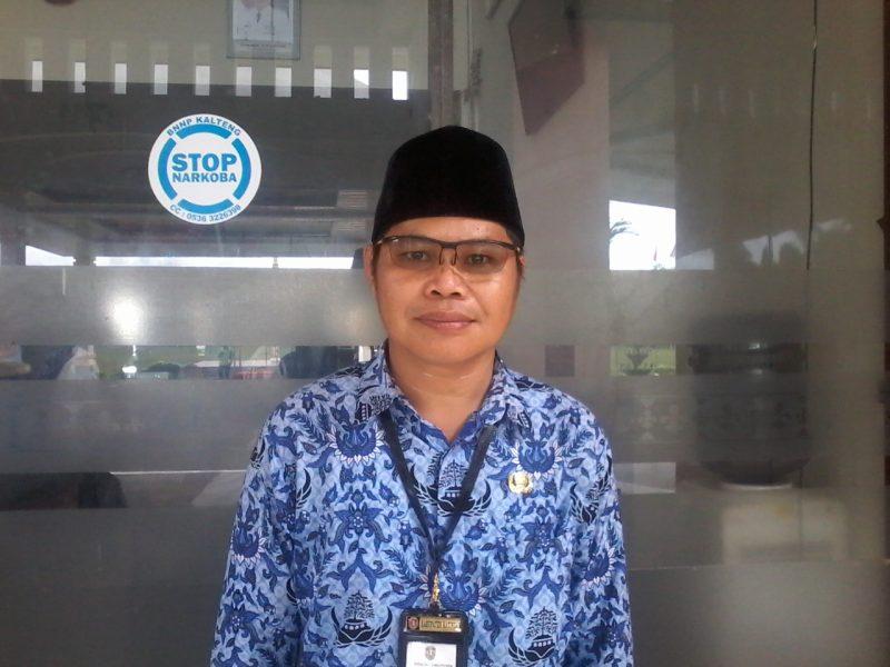 Kepala Pelaksana BPBD Kabupaten Katingan, Eka Surya Dilaga saat memberikan keterangan kepada awak media, Rabu (18/12).