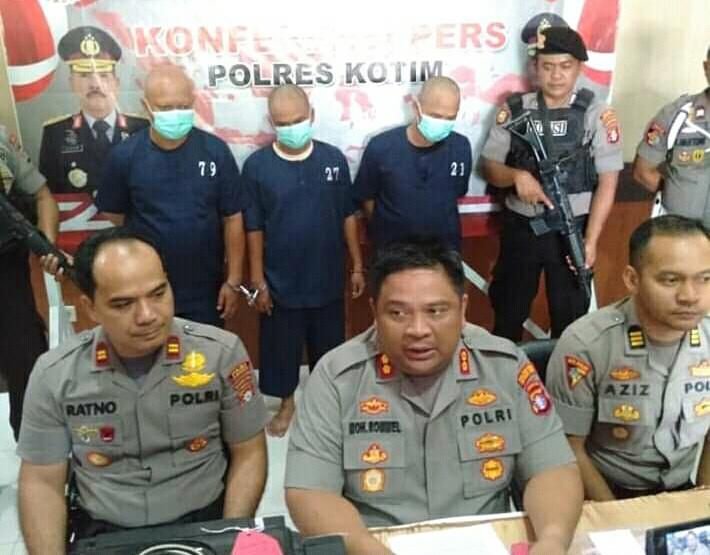 Kapolres Kotim AKBP M Rommel saat memberikan keterangan kepada awak media Rabu (18/12/2019).