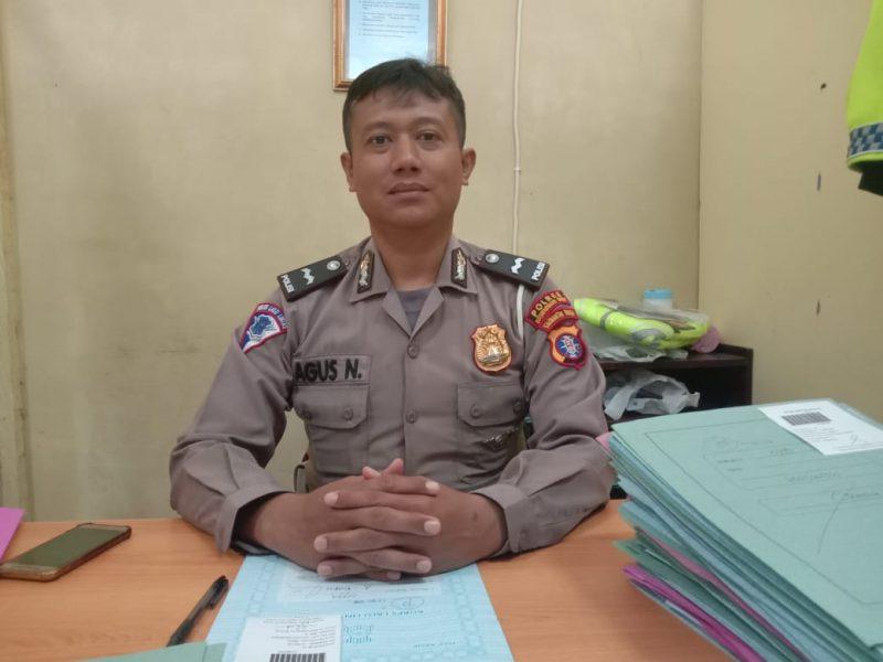 Kaur SIM Aipda Agus Nurahman saat memberikan keterangan kepada Kalteng Ekspres.com Jumat (20/12/2019).