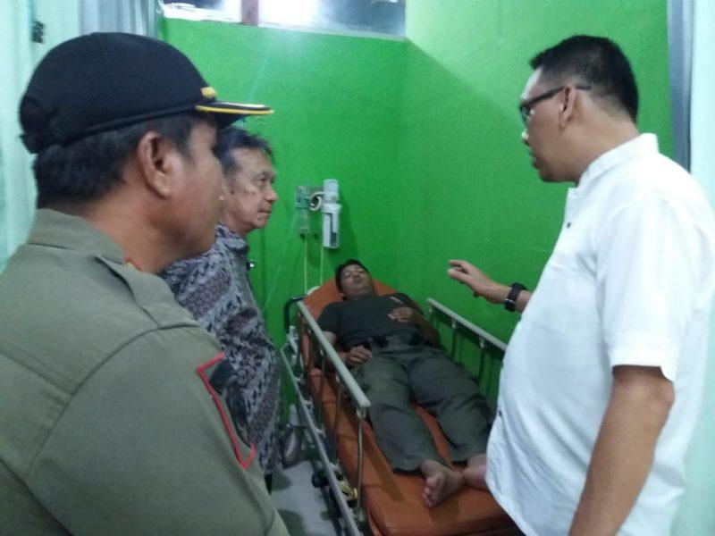Salah seorang korban saat mendapat perawatan di RSUD Jaraga Sasameh Buntok Selasa (31/12/2019) malam.