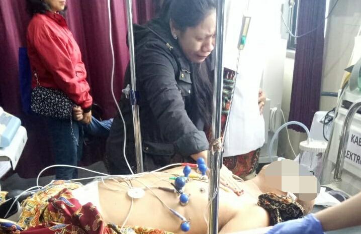 Korban saat mendapat perawatan intensif dan dinyatakan meninggal dunia oleh pihak rumah sakit Rabu (1/1/2020) pagi tadi.