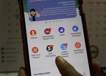 Tampilan aplikasi Mobile JKN.