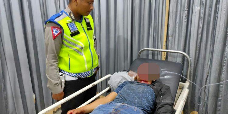 Korban saat mendapat perawatan intensif di RSUD Doris Sylvanus Palangka Raya Rabu (5/2/2020).