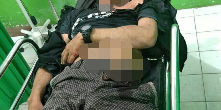 Jasad korban saat dievakuasi ke RSUD Mas Amsyar Kasongan Jumat (7/2/2020) tadi malam.