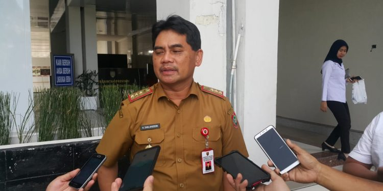 Kadis PUPR Kalteng Shalahudin saat memberikan keterangan kepada awak media Senin (10/2/2020).