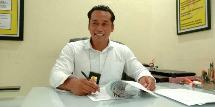 Kasatreskrim Polresta Palangka Raya Kompol Todoan Gultom saat memberikan keterangan kepada awak media, Selasa (18/2/2020).
