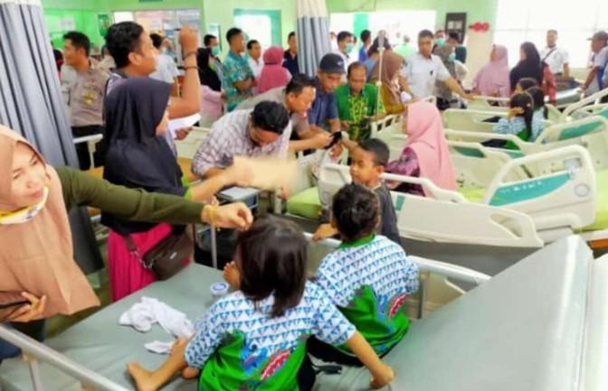 IST- Para korban saat mendapat perawatan di RSUD Murjani Sampit Kamis (20/2/2020).