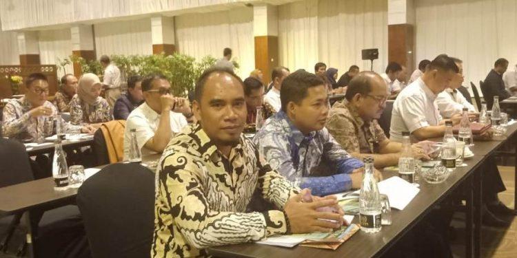 Anggota Komisi IV DPRD Kotim Bima Santoso bersama rombongan saat menghadiri rapat pembahasan RTRWP di Kementerian Agraria Kamis (27/2).