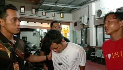 Pelaku pencurian yang berhasil dibekuk Jajaran Polresta Palangka Raya, Kamis (12/3) malam. Foto : am