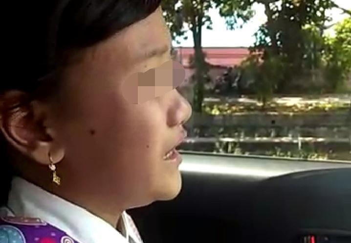 Anak SD yang mengaku nyaris dibawa orang tak dikenal usai pulang sekolah di Palangka Raya, Selasa (17/3). Foto : am