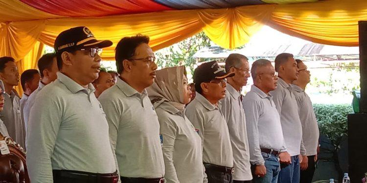 Ketua DPRD Kobar Rusdi Gozali saat menghadiri acara ultah Bank BPR Sabtu (29/2).