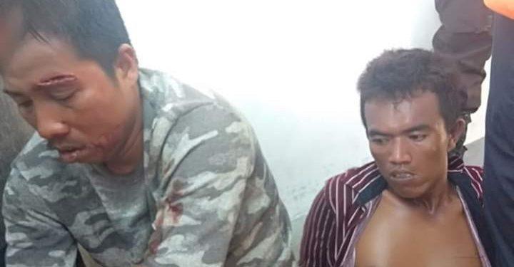 Kawanan pencuri buronan Polres Pulang Pisau yang tertangkap di Palangka Raya, Senin (30/3/2020). Foto : am
