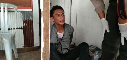 Pencuri tabung gas yang berhasil diamankanwarga Jl Yos Sudarso Palangka Raya, Sabtu (28/3/2020). Foto : am