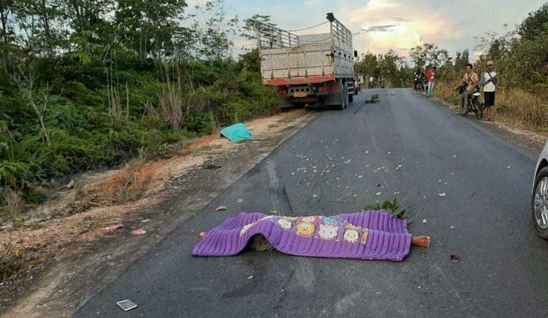 Jasad korban saat tergeletak di lokasi kejadian Rabu (30/4).