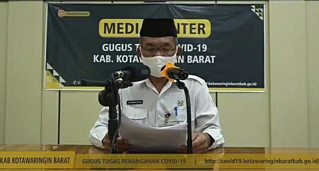Juru Bicara Gugus Tugas Kobar Achmad Rois saat memberikan keterangan resmi Rabu (27/5).