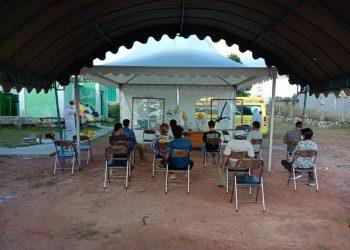 Pengambilan sampel uji swab ke dua kepada 10 pekerja di RSUD Lamandau, Sabtu (30/5/2020).