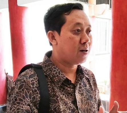 Anggota DPRD Kota Palangka Raya Sigit Widodo saat memberikan keterangan kepada awak media