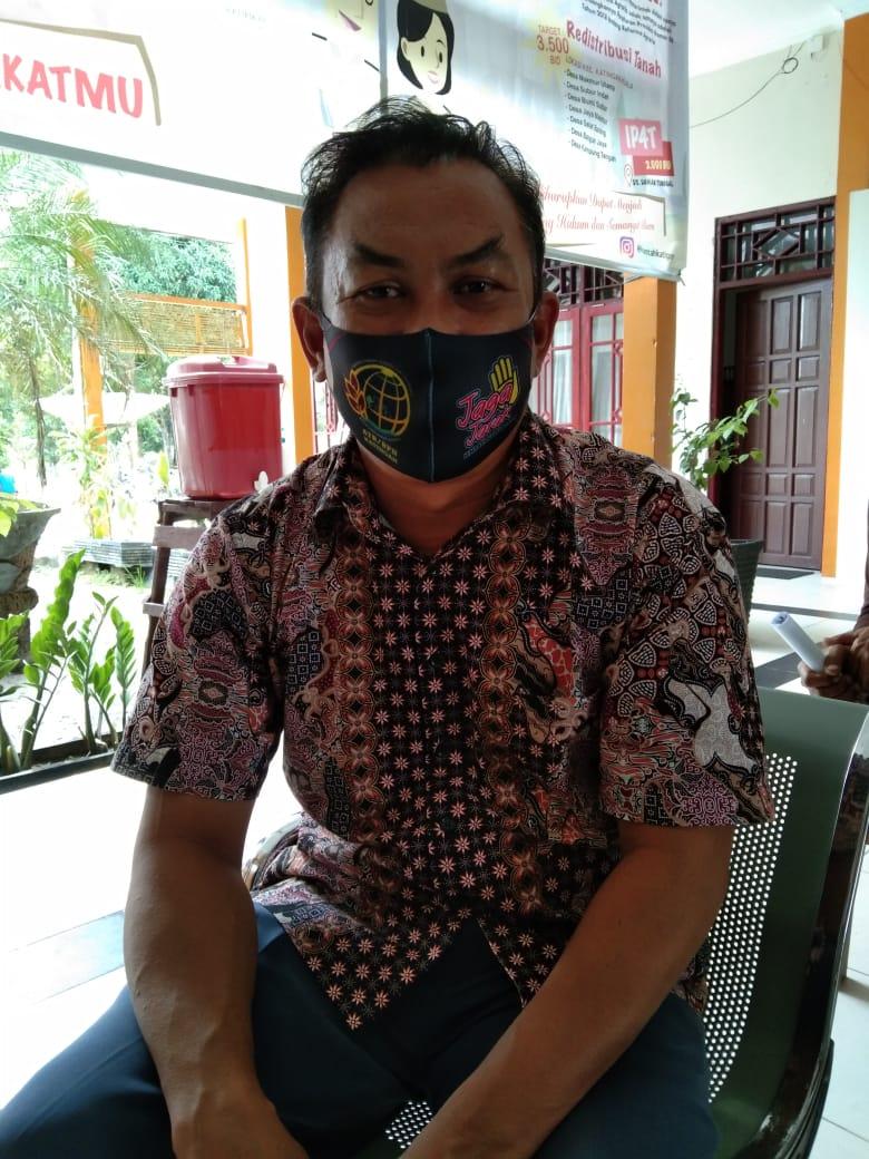 Kabid Penetapan Hak, Kantor ATR/BPN Katingan, Budi. Foto : MI