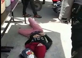 Korban saat tergeletak pingsan di lokasi kejadian Rabu (3/6).