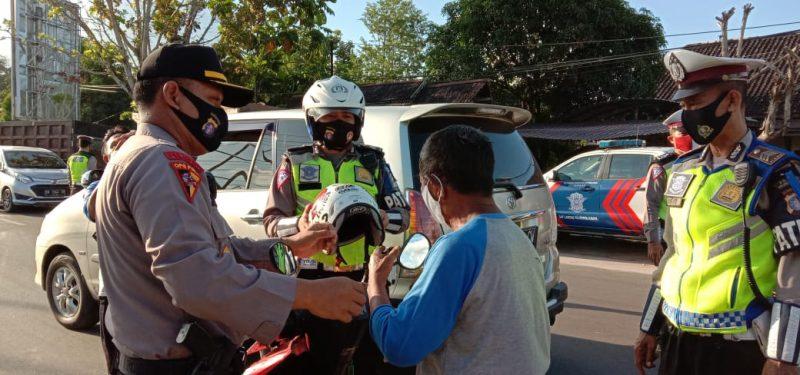 Operasi Patuh Telabang 2020 di dua lokasi yakni  Jalan Rajawali dan Jalan Beliang Kota Palangka Raya, Rabu (29/7/2020) Sore. Foto : Am