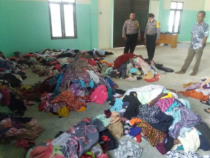 Barang bukti pakaian wanita saat diamankan anggota Polres Kobar Kamis (23/7).