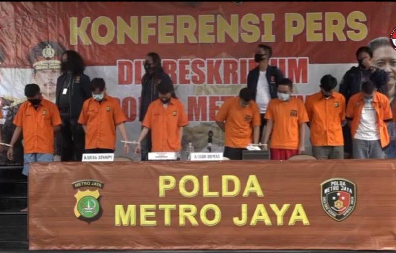 Para pelaku saat diamankan di Mapolda Metro Jaya Rabu (2/9).