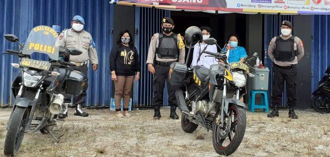 Anggota Polres Katingan, patroli keamanan jelang kampanye pilgub kalteng. Foto : MI