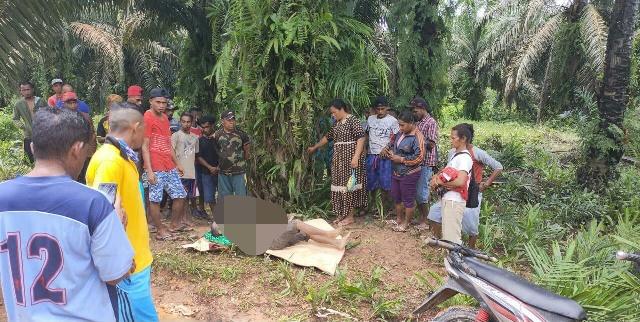 Jasad korban saat ditemukan warga Minggu (26/10).