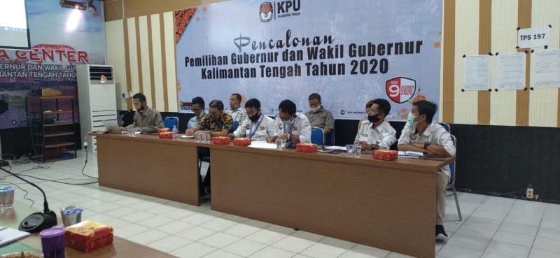 KPU Kalteng menggelar rapat persiapan debat terbuka dengan pihak terkait, Sabtu (7/11/2020). Foto : Ist