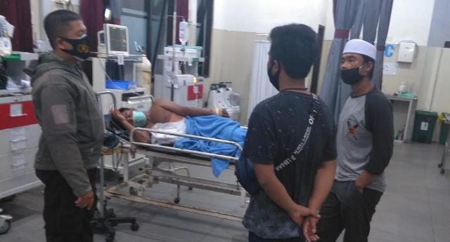 Korban saat masih terbaring di rumah sakit Rabu (11/11)