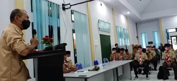Kadinkes Kobar Achmad Rois saat menyampaikan sambutannya ketika membuka kegiatan orientasi krida Sabtu (21/11)