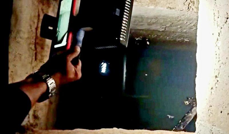 Kondisi bunker yang dibuat teroris JI Upik Lawanga saat dikunjungi tim Mabes Polri Sabtu (19/12).