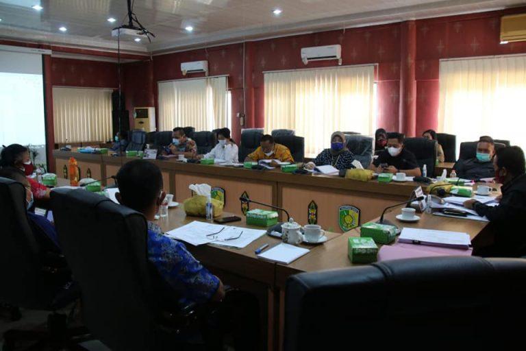 Jajaran Pansus DPRD Kota Palangka Raya pada saat menggelar rapat bersama SOPD, Jumat (29/1/2021). Foto : Ra