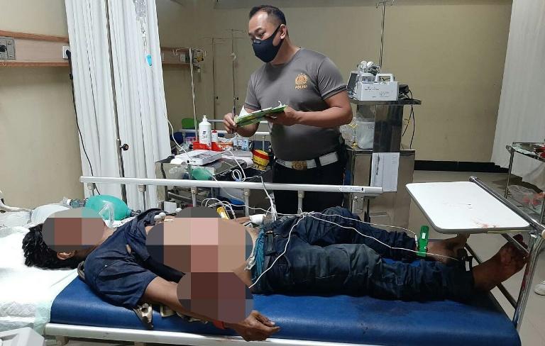 Jasad korban saat berada di RS Pambelum saat sempat mendapat perawatan dan dinyatakan meninggal dunia Jumat (8/1).