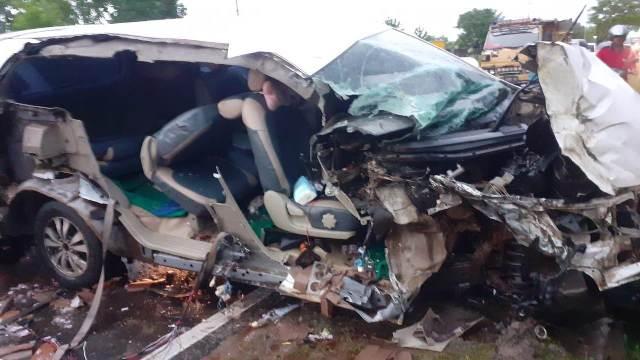 Mobil Innova saat mengalami kerusakan berat Rabu (13/1).