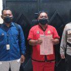 Tersangka saat diamankan di Mapolda Kalteng, Sabtu (6/3).