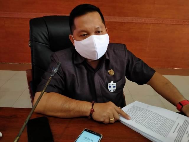 Wakil Ketua I DPRD Kabupaten Kapuas, Yohanes.