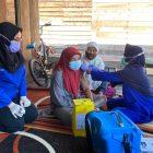 Proses vaksinasi bagi masyarakat lanjut usia. Foto : Ra