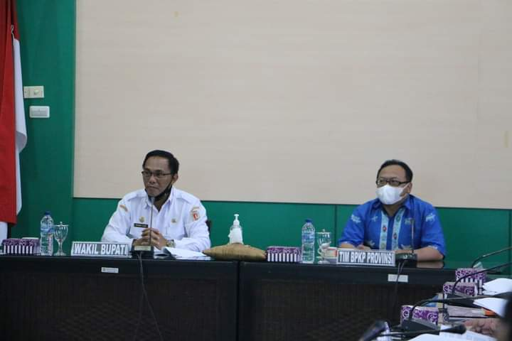 Wabup Sunardi NT.Litang Pimpin rapat hibah, Rabu (30/6/2021).