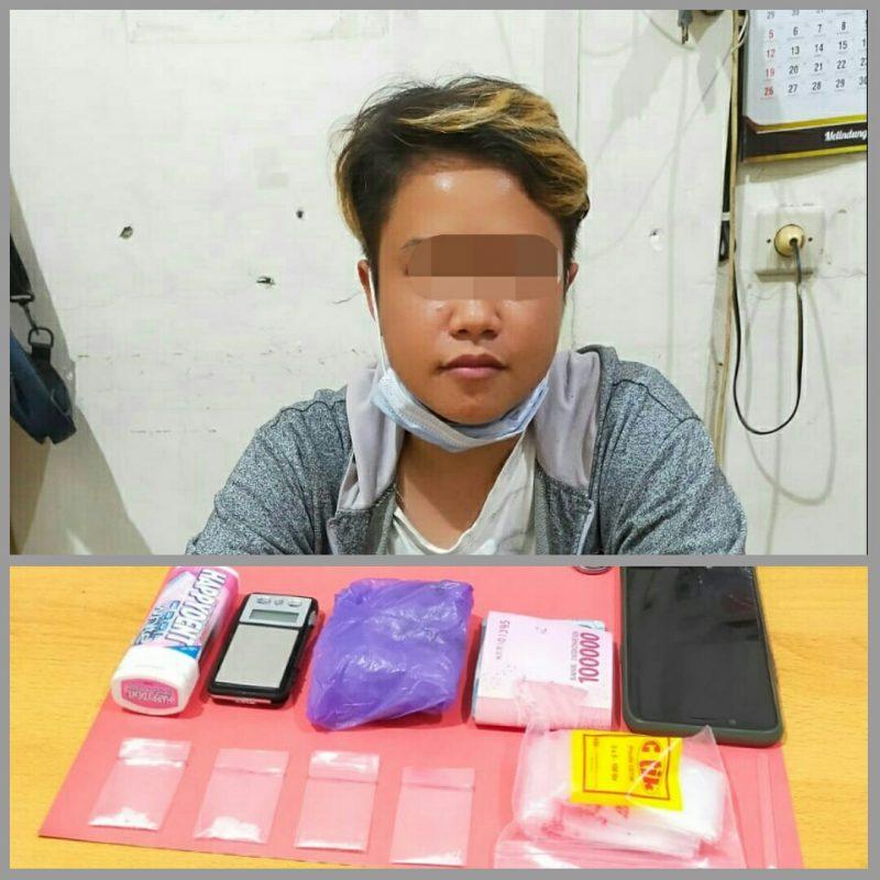 Pelaku saat diamankan beserta barang bukti di Mapolres Kotim, Selasa (14/9).