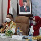 Wali Kota Palangka Raya Fairid Naparin dan Wakil Wali Kota Hj. Umi Mastikah saat repleksi 3 tahun kepemimpinan mereka, akhir pekan tadi.