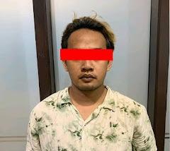 Pelaku saat diamankan di Mapolda Kalteng, Sabtu (11/9).
